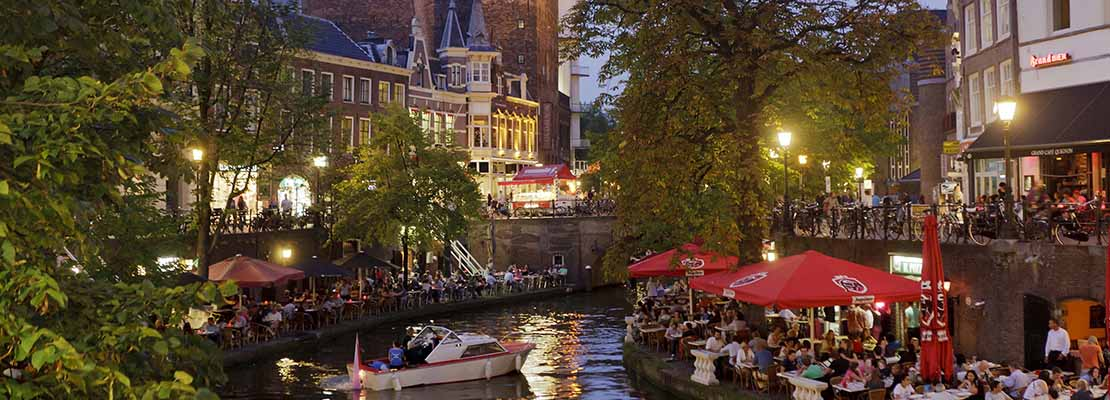 Abendstimmung in Utrecht in Holland