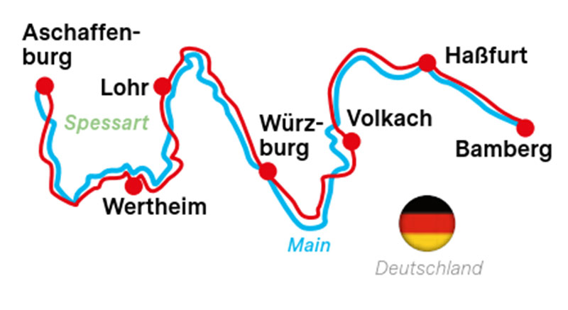 Mainradweg - Klassiker Bamberg-Aschaffenburg | OÖ         Touristik